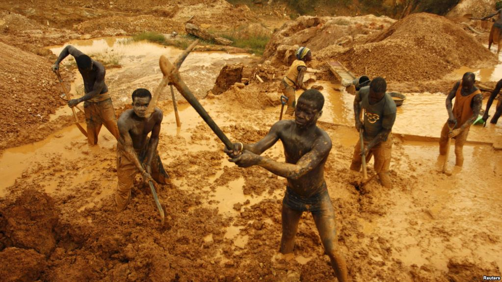 Mine d'or artisanale, Ghana, image wikipedia
